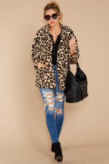 2 The Natural Leopard Sherpa Teddy Bear Coat at reddressboutique.com