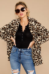 6 The Natural Leopard Sherpa Teddy Bear Coat at reddressboutique.com