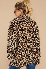 8 The Natural Leopard Sherpa Teddy Bear Coat at reddressboutique.com