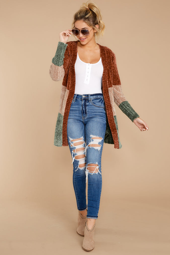 1 Tell Me About It Ivory Multi Stripe Cardigan at reddressboutique.com