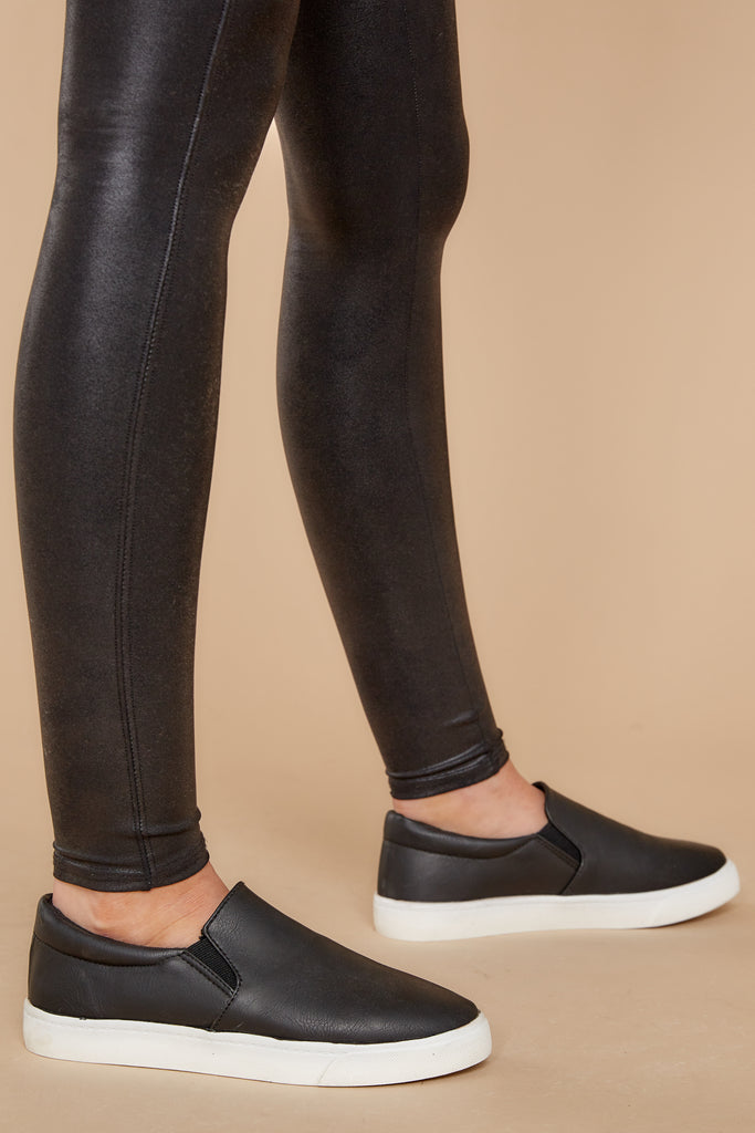4 Buzz Off Black Sneakers at reddressboutique.com