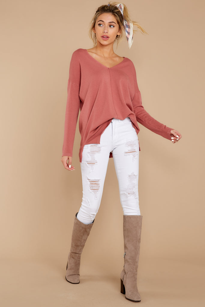 Told You White Distressed Skinny Jeans