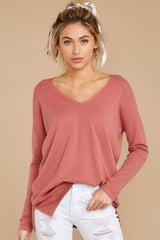 Give It A Rest Rose Pink Sweater