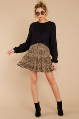 5 Loose In NYC Cheetah Print Skirt at reddressboutique.com
