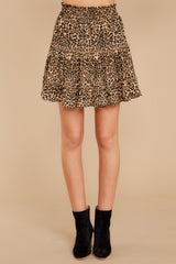 3 Loose In NYC Cheetah Print Skirt at reddressboutique.com