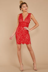 3 Better For It Red Lace Dress at reddressboutique.com