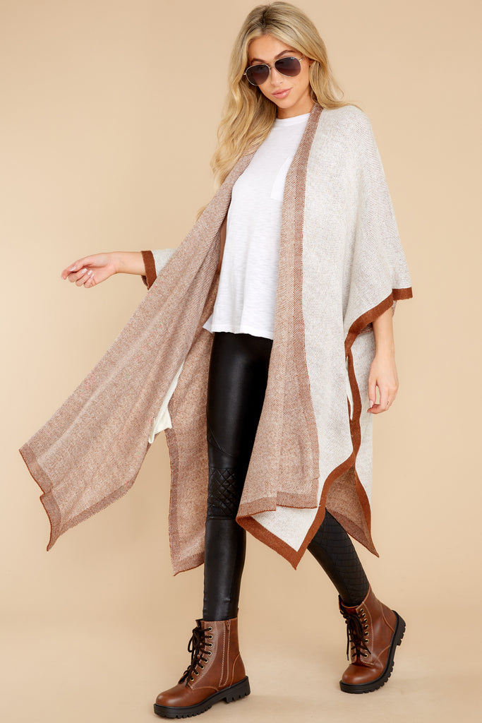 1 In The Wind Black Multi Poncho at reddress.com