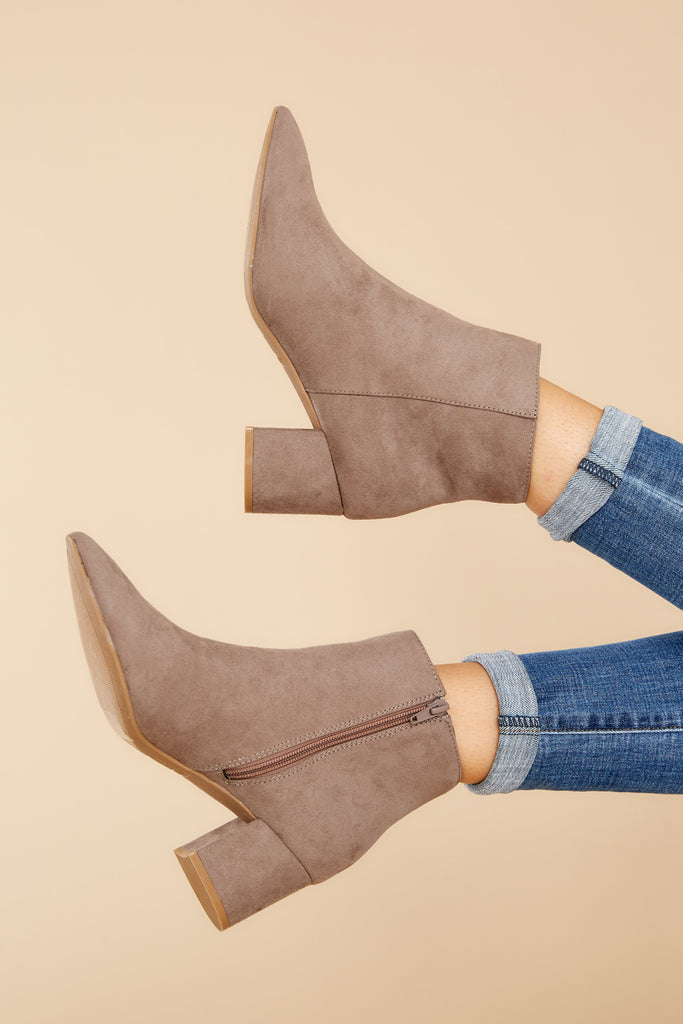 1 Finding Your Voice Taupe Ankle Booties at reddress.com