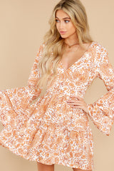 4 Sunrise Paisley Orange Mini Dress at reddress.com