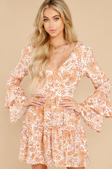 6 Sunrise Paisley Orange Mini Dress at reddress.com