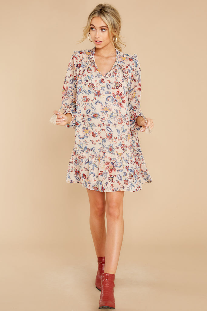 1 Nothing Forgotten Black And Rust Floral Print Dress at reddress.com