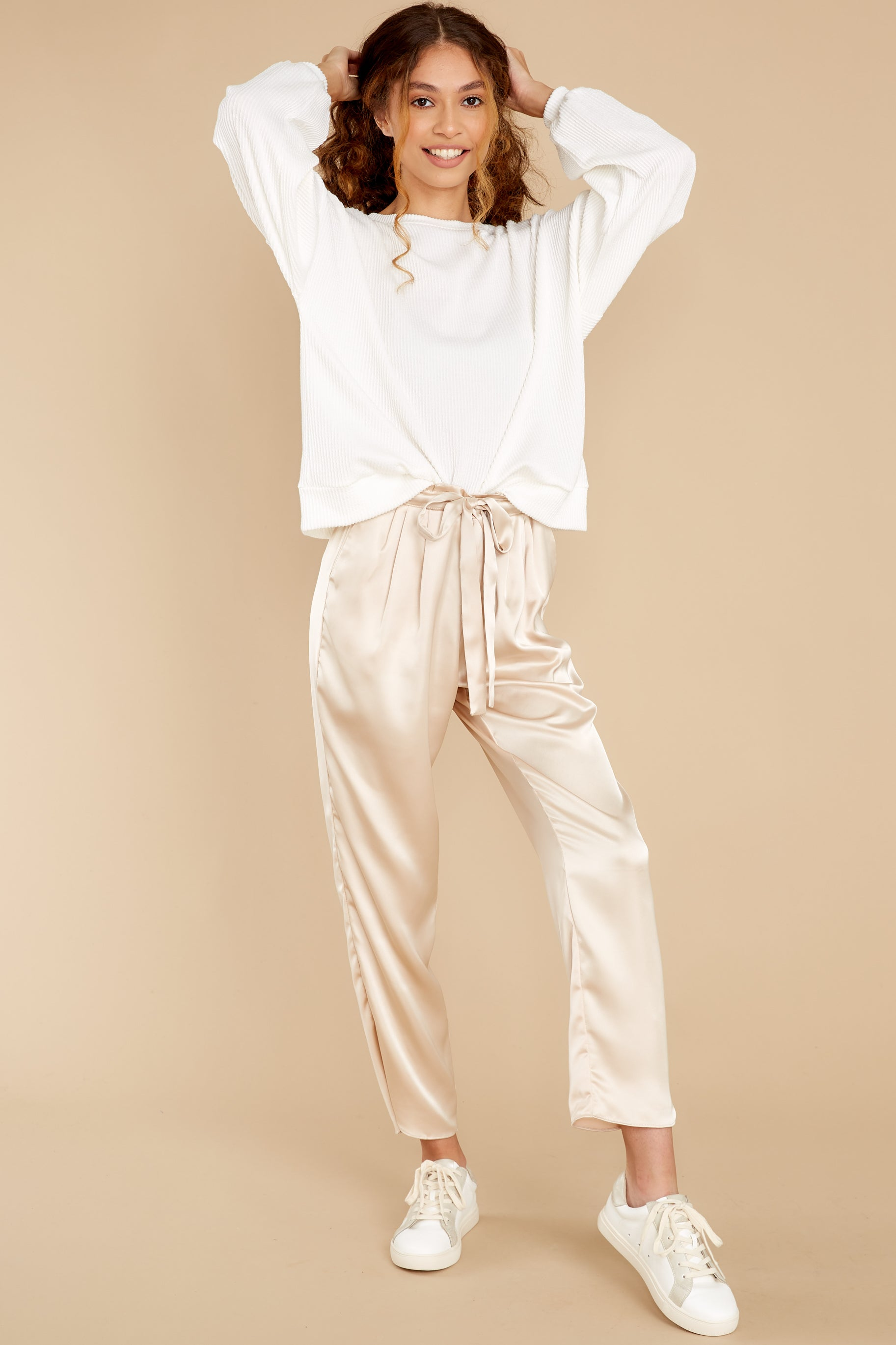 4 Go Glam Champagne Pants at reddress.com