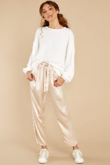 5 Go Glam Champagne Pants at reddress.com