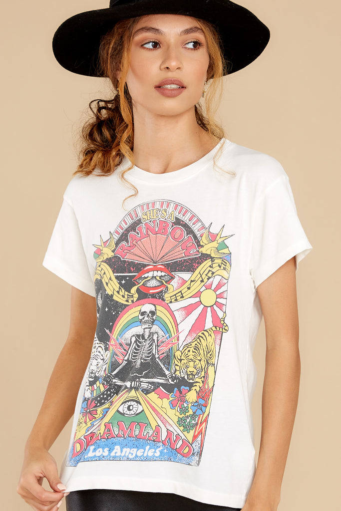 1 The Clash Collage Reverse Stone Vintage Girlfriend Tee at reddress.com