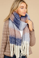 1 Local Forecast Blue And Pink Multi Scarf at reddress.com