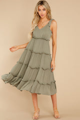 2 In Full Swing Olive Green Midi Dress at reddress.com