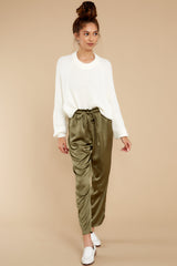5 Go Glam Olive Pants at reddress.com