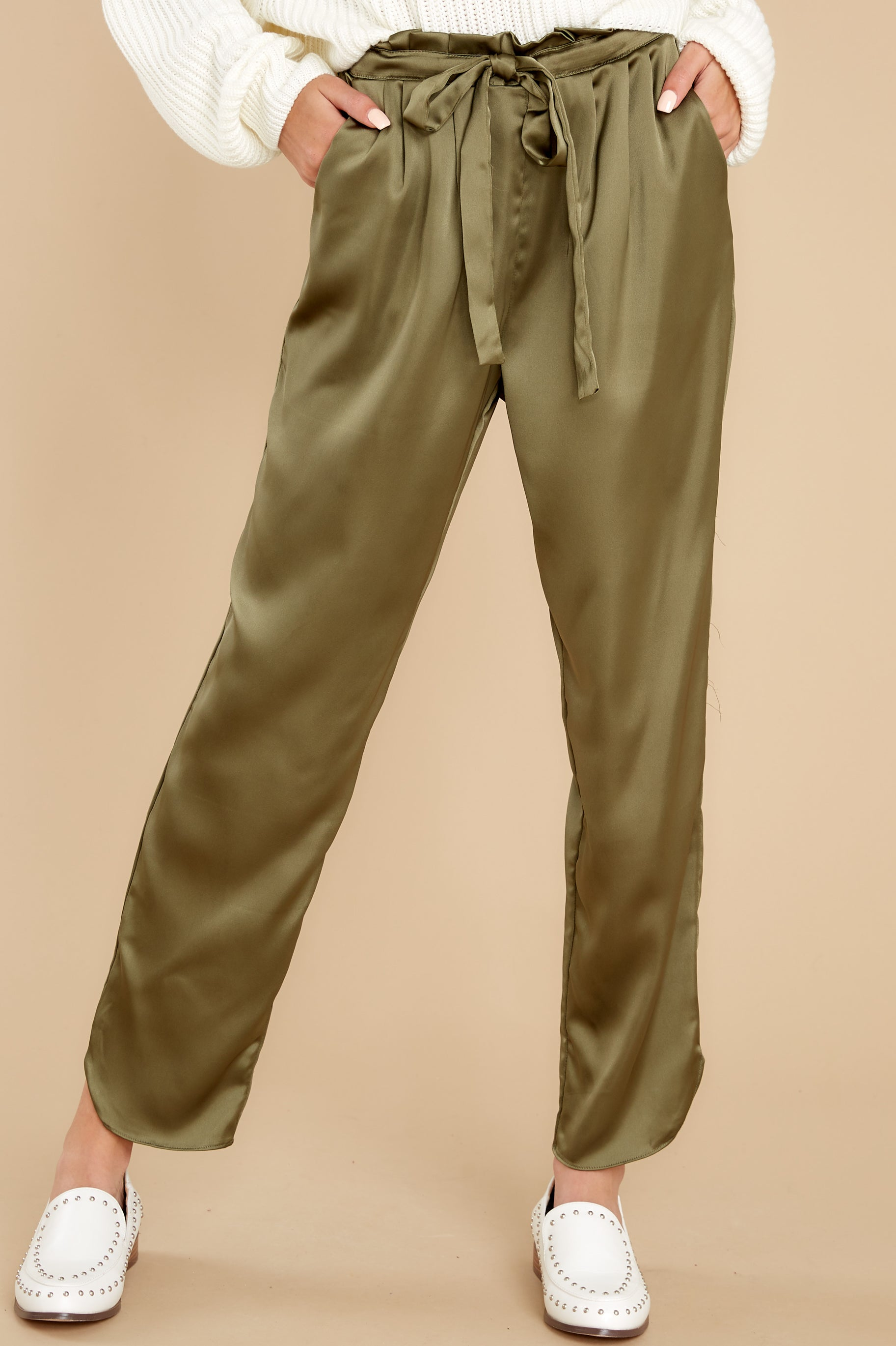 1 Go Glam Olive Pants at reddress.com