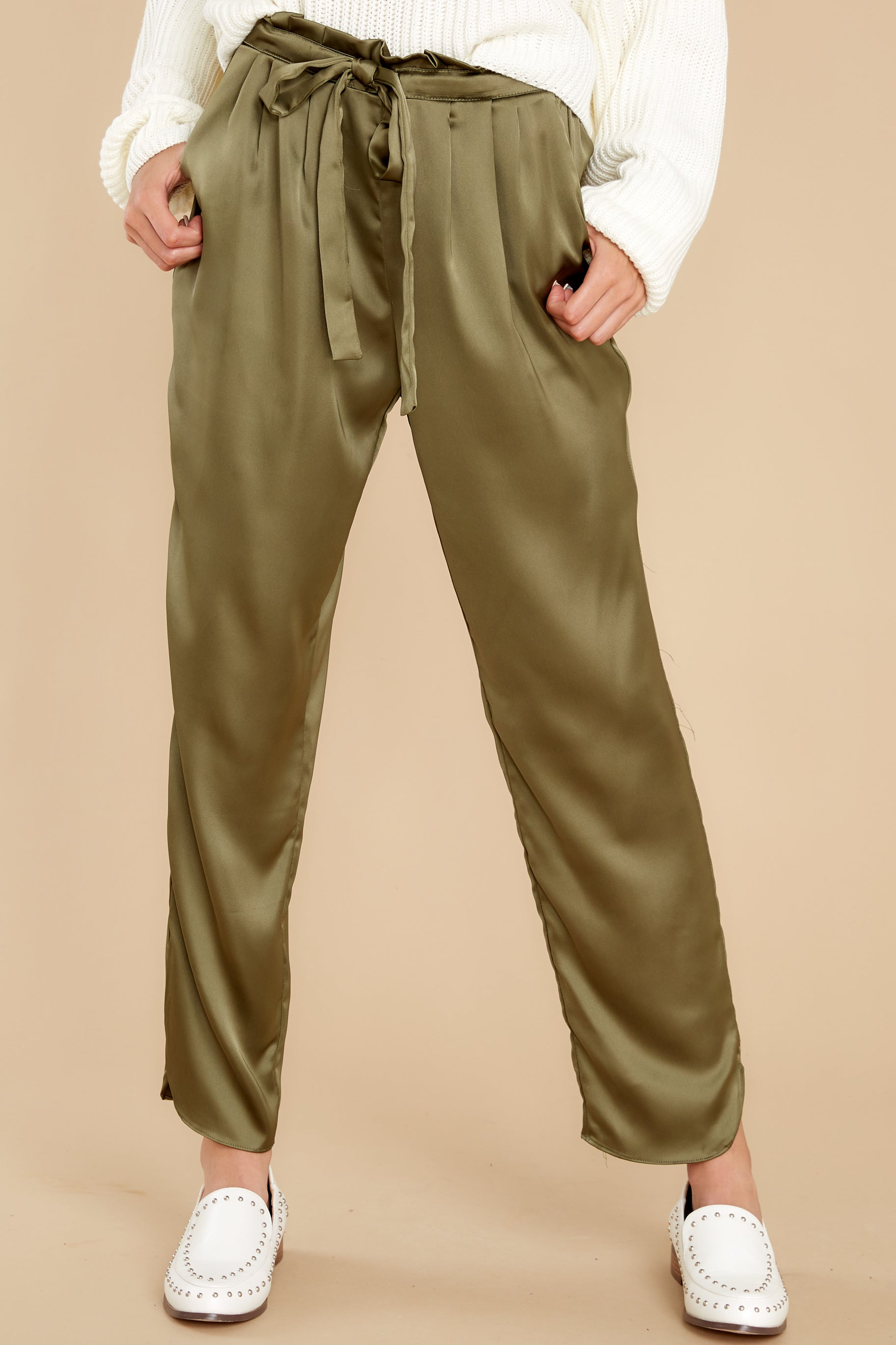 2 Go Glam Olive Pants at reddress.com