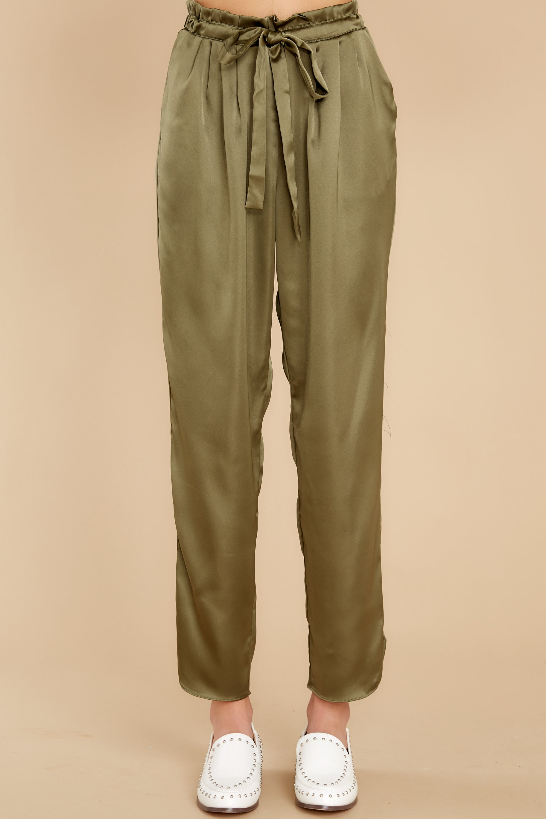 3 Go Glam Olive Pants at reddress.com