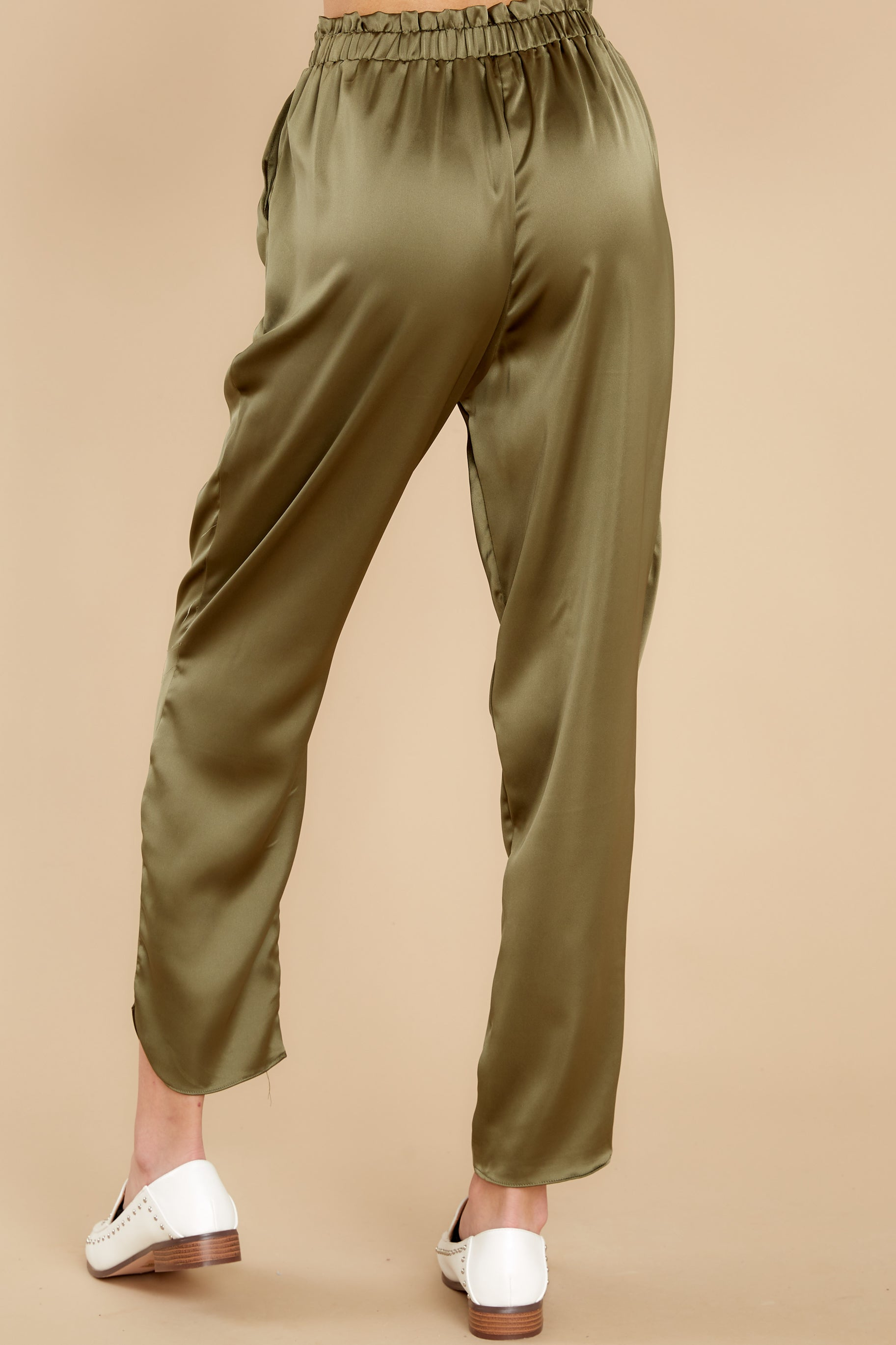 4 Go Glam Olive Pants at reddress.com