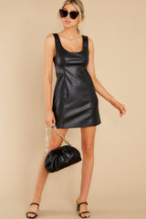 2 Heartache On Heels Black Vegan Leather Dress at reddress.com