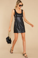 3 Heartache On Heels Black Vegan Leather Dress at reddress.com