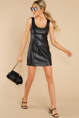 1 Heartache On Heels Black Vegan Leather Dress at reddress.com