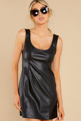 6 Heartache On Heels Black Vegan Leather Dress at reddress.com