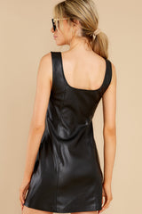 7 Heartache On Heels Black Vegan Leather Dress at reddress.com
