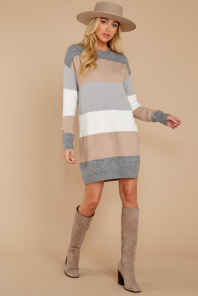 1 Movers And Shifters Grey Sweatshirt Dress at reddressboutique.com