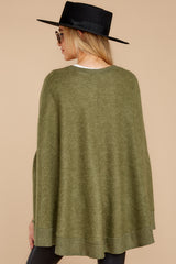 9  Make Your Mark Olive Green Poncho Top at reddressboutique.com