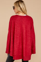 8 Make Your Mark Dark Red Poncho Top at reddress.com