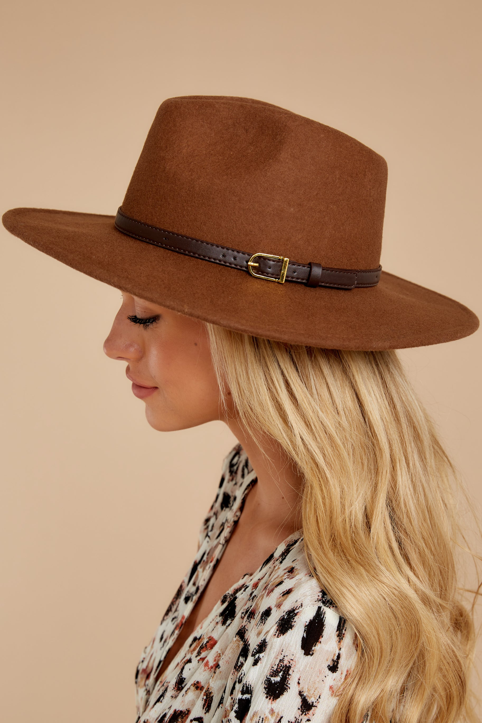1 Sunday River Brown Hat at reddressboutique.com