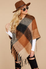 5 In The Wind Black Multi Poncho at reddress.com