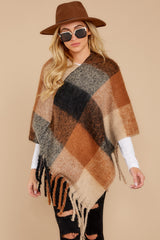 6 In The Wind Black Multi Poncho at reddress.com