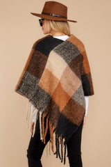 8 In The Wind Black Multi Poncho at reddress.com