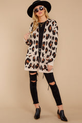 2 Her Feisty Side Leopard Print Cardigan @ reddress.com