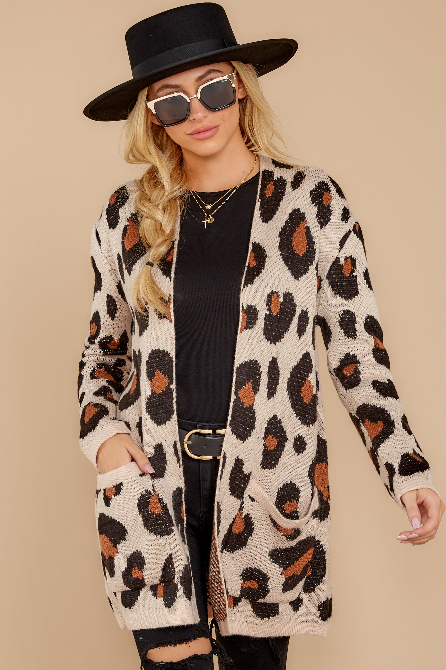 5 Her Feisty Side Leopard Print Cardigan @ reddress.com