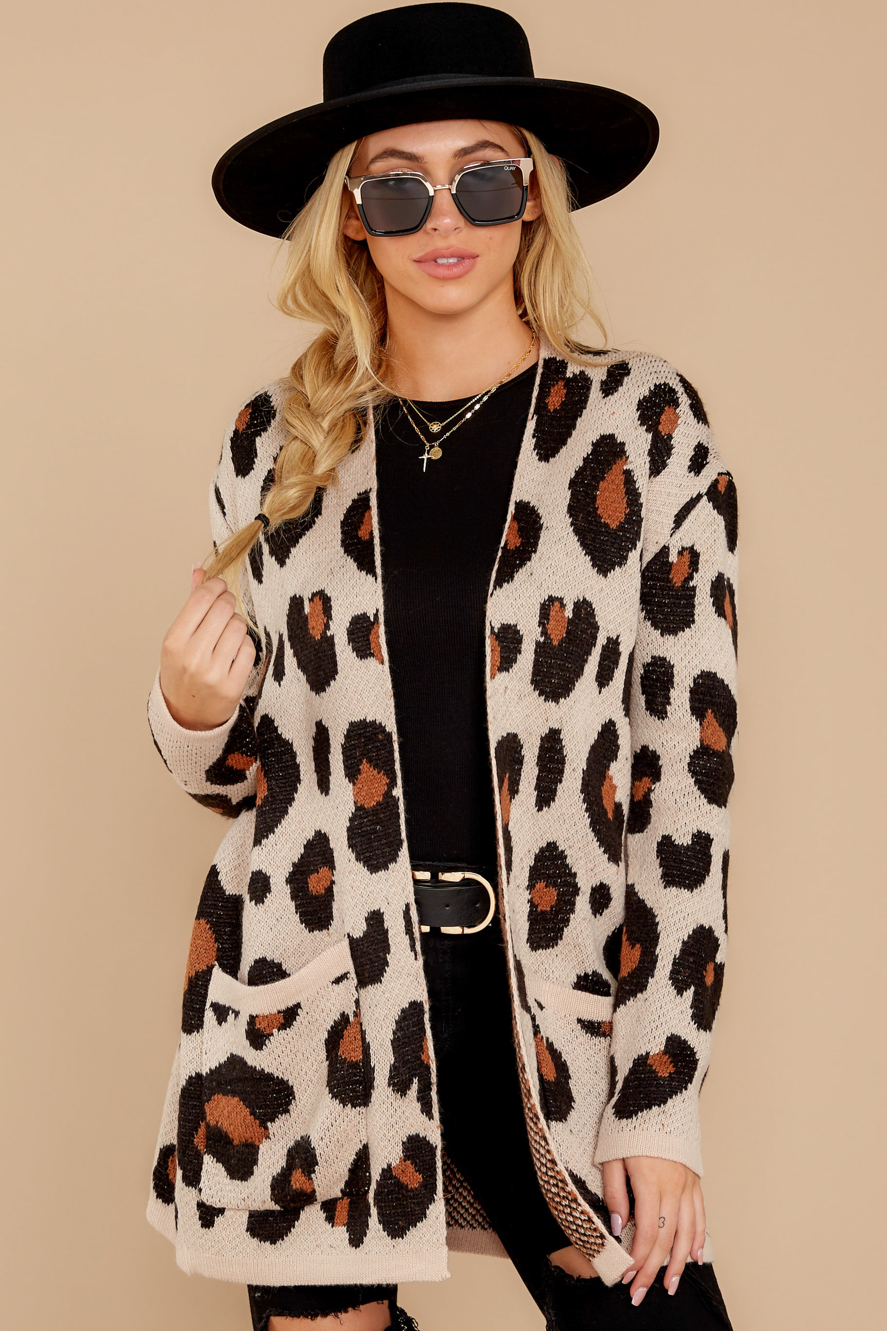 7 Her Feisty Side Leopard Print Cardigan @ reddress.com