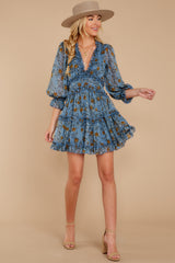 4 Make It A Date Night Light Blue Floral Print Dress at reddress.com