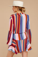 8 Let This Be Pink Multi Stripe Dress at reddressboutique.com