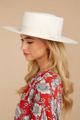 1 Play It Cool Ivory Hat at reddressboutique.com