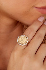 1 Isadora Gold Ring at reddressboutique.com
