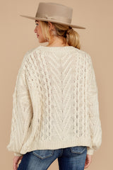8 The Maine Attraction Cream Cable Knit Sweater at reddress.com
