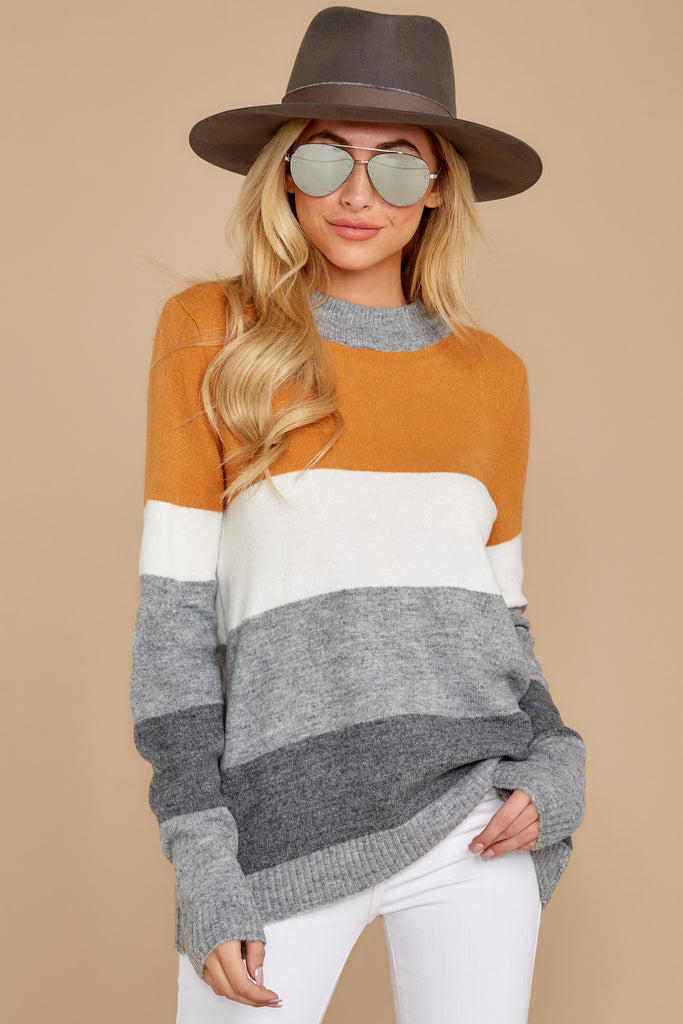 1 Across Central Park Beige Sweater at reddress.com