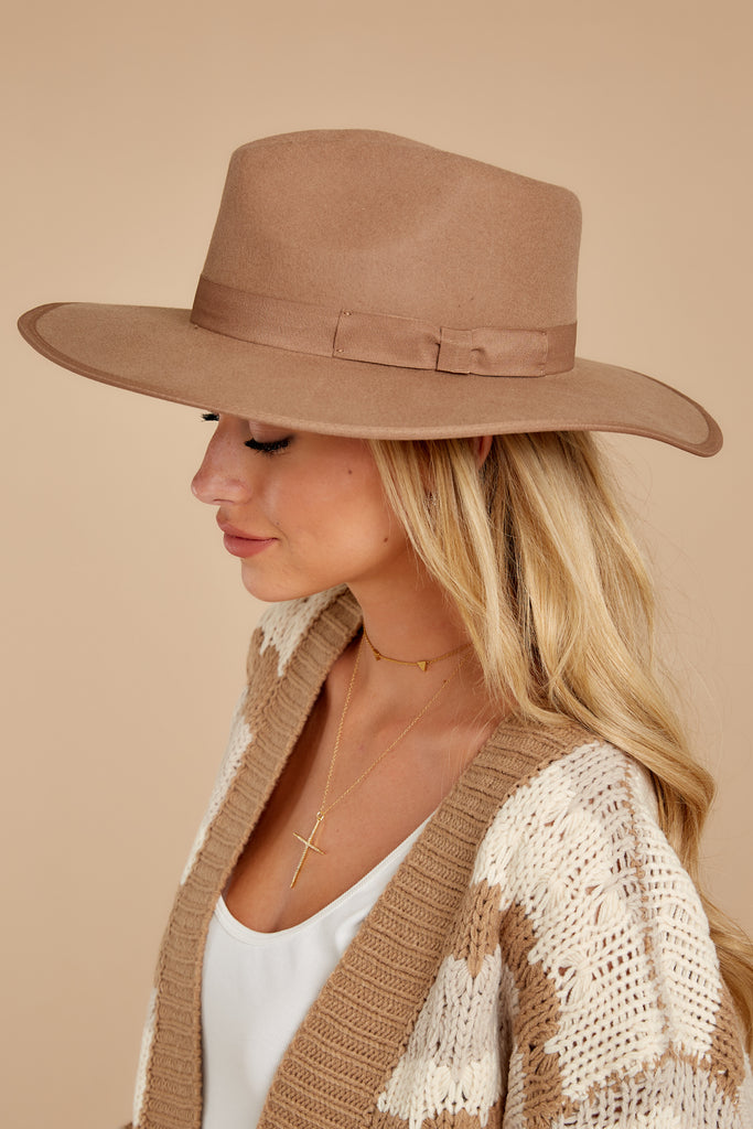 1 Won't Forget Her Brown Hat at reddressboutique.com