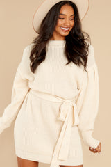 5 Impeccable Style Ivory Sweater Dress at reddress.com