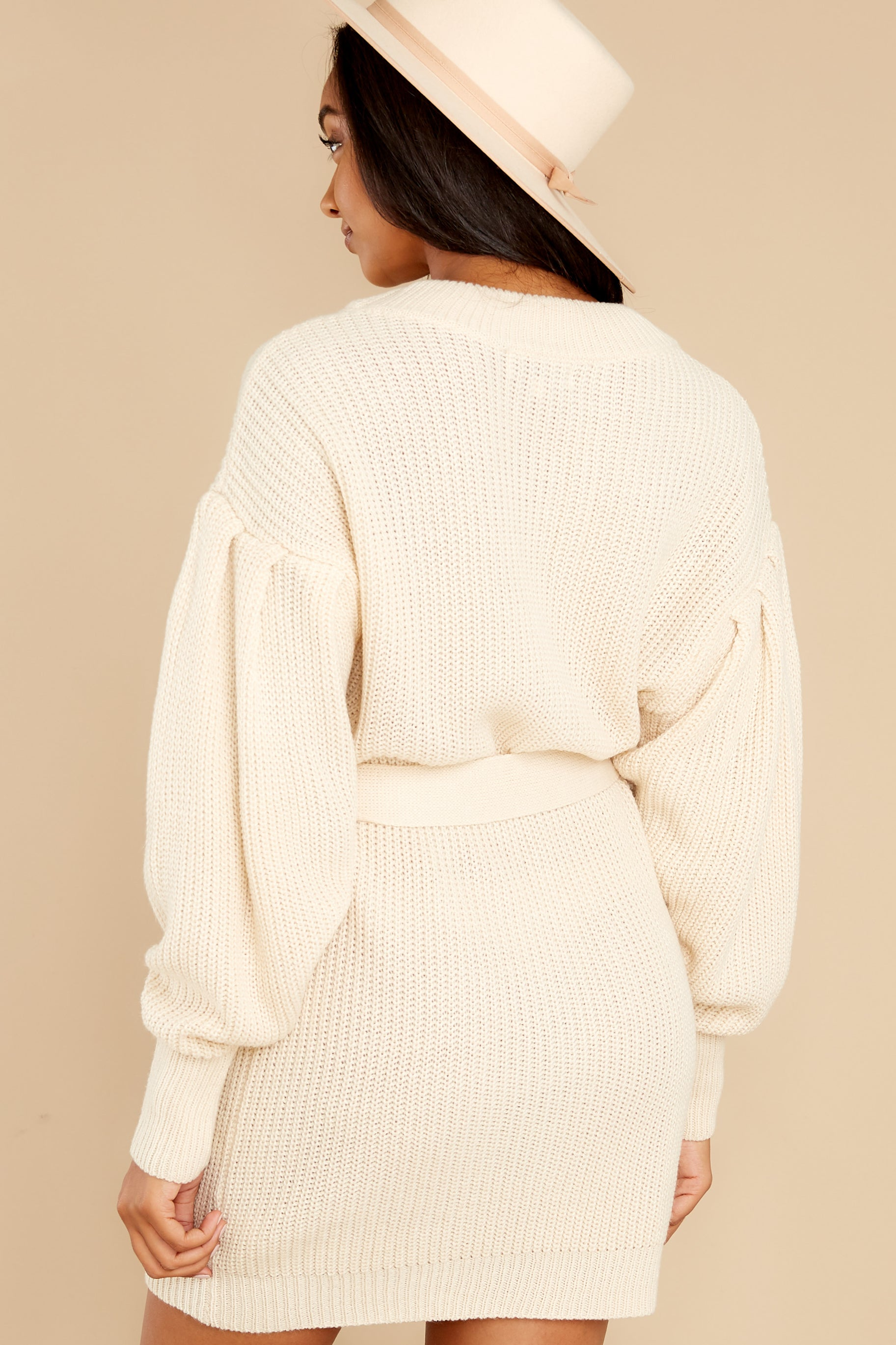 8 Impeccable Style Ivory Sweater Dress at reddress.com