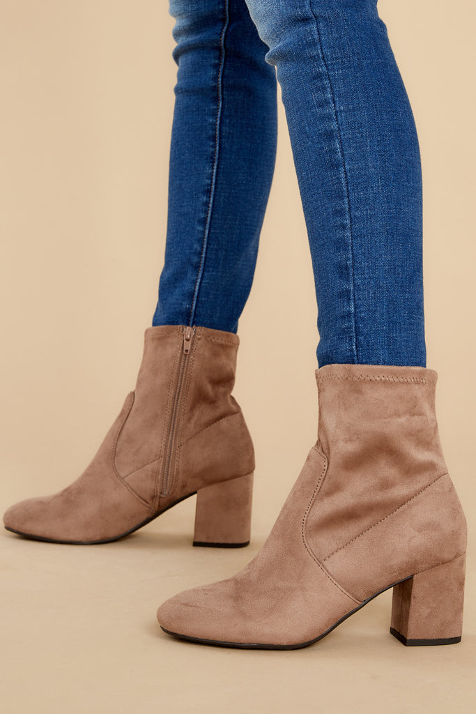 1 Cozy Confidence Taupe Ankle Booties at reddress.com